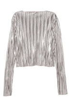 Pleated top - Silver - Ladies | H&M CN 2