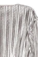 Pleated top - Silver - Ladies | H&M CN 3