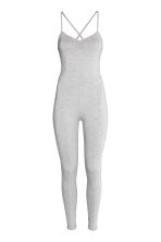 Fitted jumpsuit - Light grey marl - Ladies | H&M CN 2
