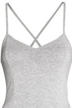 Fitted jumpsuit - Light grey marl - Ladies | H&M CN 4