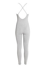 Fitted jumpsuit - Light grey marl - Ladies | H&M CN 3