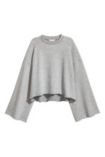 Wide-sleeved sweatshirt - Grey marl - Ladies | H&M CN 2