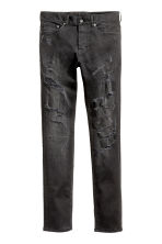 Slim Low Trashed Jeans - Black washed out - Men | H&M CA 2