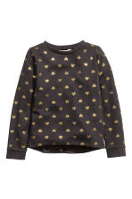 Printed sweatshirt - Black/Heart - Kids | H&M CN 2
