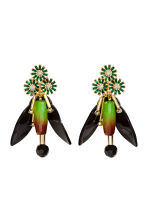 Sparkly earrings - Green/Gold -  | H&M CA 1