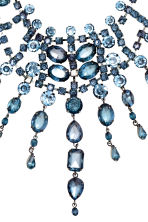Sparkly necklace - Silver/Blue - Ladies | H&M CN 2