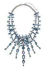 Sparkly necklace - Silver/Blue - Ladies | H&M CN 1