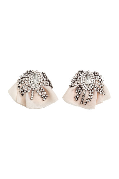 Sparkly earrings - Powder pink - Ladies | H&M CN 1