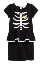 Dress with a print motif - Black/Skeleton - Kids | H&M CN 1