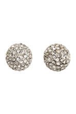 Sparkly earrings - Silver - Ladies | H&M CN 1