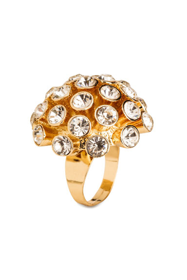 Anello grande con strass - Dorato - DONNA | H&M IT 1