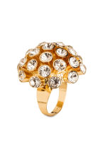 Large sparkly ring - Gold - Ladies | H&M CN 1