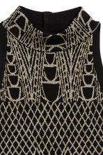 Glittery turtleneck top - Black/Patterned - Ladies | H&M CN 4