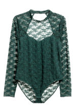 H&M+ Lace body - Dark green - Ladies | H&M CN 2