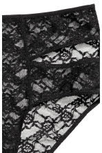 High-waisted lace briefs - Black - Ladies | H&M CN 3