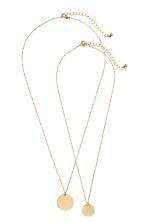 2-pack necklaces - Gold - Ladies | H&M CN 1