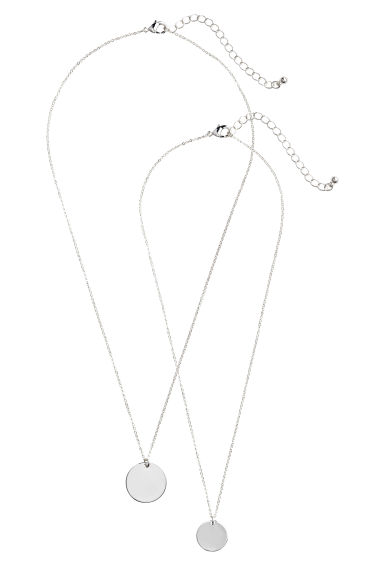2-pack necklaces - Silver - Ladies | H&M GB 1
