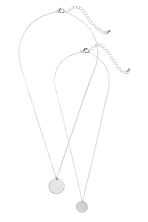 2-pack necklaces - Silver - Ladies | H&M 1