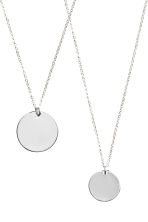 2-pack necklaces - Silver - Ladies | H&M GB 4
