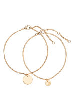 2-pack bracelets - Gold - Ladies | H&M CA 1