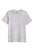 Round-neck T-shirt Regular fit - Grey marl - Men | H&M CN 2