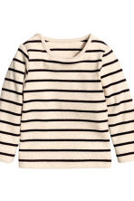 Top and trousers - Light beige/Striped - Kids | H&M CN 3