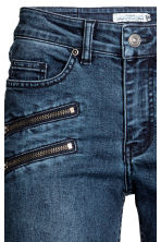 Slim Biker Jeans - Dark denim blue - Ladies | H&M CN 4