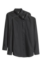 2-pack easy-iron shirts - Black - Men | H&M CN 2