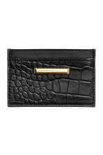 Leather card holder - Black - Ladies | H&M CN 1