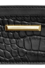 Leather card holder - Black - Ladies | H&M CN 3
