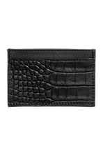 Leather card holder - Black - Ladies | H&M CN 2