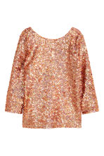 Sequined top - Bronze -  | H&M CN 2