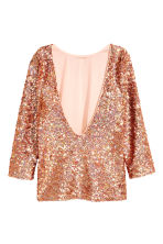 Sequined top - Bronze -  | H&M CN 3
