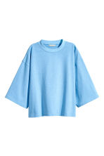 Wide sweatshirt - Light blue - Ladies | H&M CN 2