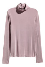 Polo-neck top - Heather purple - Ladies | H&M CN 2