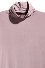 Polo-neck top - Heather purple - Ladies | H&M CN 3