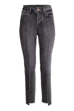 Vintage High Cropped Jeans - Black washed out - Ladies | H&M CN 2