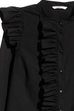Frilled cotton blouse - Black - Ladies | H&M CN 3