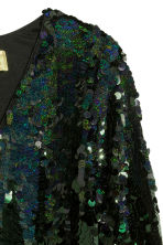 Sequined dress - Black/Green - Ladies | H&M GB 3