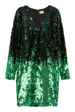 Sequined dress - Black/Green - Ladies | H&M CN 2