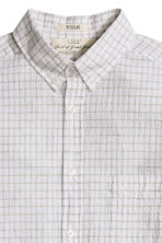 Seersucker shirt - White/Checked - Men | H&M CN 2