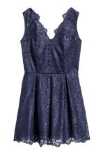 H&M+ Abito in pizzo scollo a V - Blu scuro - DONNA | H&M IT 2