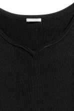 H&M+ Fitted top - Black - Ladies | H&M CN 3