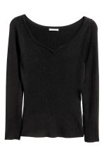 H&M+ Fitted top - Black - Ladies | H&M CN 2