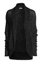 Loose-knit cardigan - Dark grey marl -  | H&M CN 2
