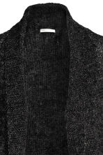 Loose-knit cardigan - Dark grey marl -  | H&M CN 3