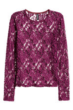 Lace top - Dark purple - Ladies | H&M CN 2