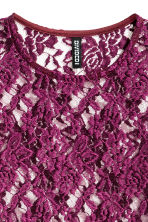 Lace top - Dark purple - Ladies | H&M CN 3