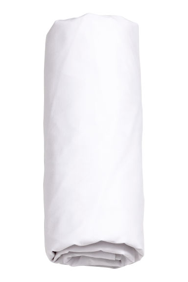 Cotton percale fitted sheet - White - Home All | H&M CN 1