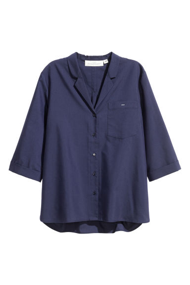 Short-sleeved resort shirt - Dark blue - Ladies | H&M CN 1